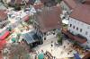 Marktplatz von oben, Marktplatzeinweihung, Jettingen, Oberjettingen